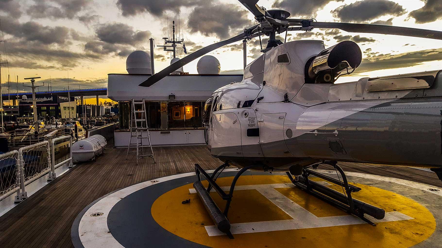 AS350 Yacht Deck