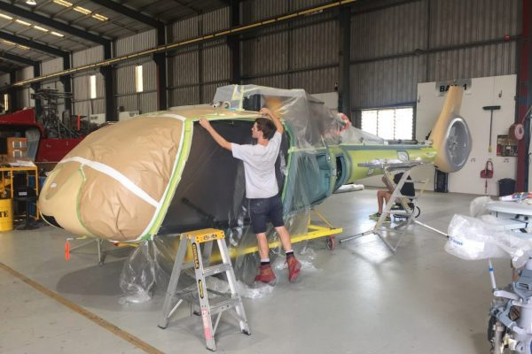 New Airbus Helicopters H130 Paint Masking